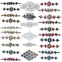 Rhinestones Diamante Motif Crystal Patches for DIY Bridal Sash Belt Sewing Dress