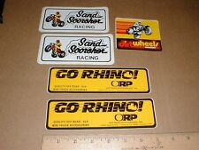 4x4 3-Wheeling ATV vintage 1980s sand dirt off-road decal sticker lot Lynwood CA