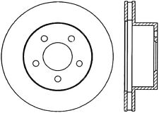 Disc Brake Rotor-Sport Drilled/Slotted Disc Front Left Stoptech 127.61029L
