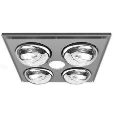 Heller 3 in 1 Bathroom Ceiling Heater Exhaust Fan Heat Globes LED Light Silver