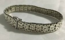 Italian Sterling Silver Diamond Cut Riccio Link Bracelet