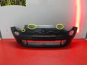 ORIGINAL FRONT BUMPER FIAT 500 2015 2020 FROM 2015 TO 2020 WITH PRIMER