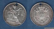 """Jeton """"percé"""" Notaires Villefranche Rhone 1825 MDCCCXXV RARE """"Lerouge 437"""" Argen"""