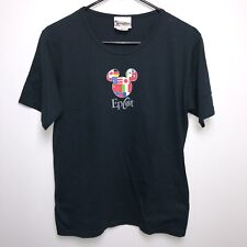 Vintage 80s Epcot Center Mickey Walt Disney World T-Shirt Tee Flag Women's Small