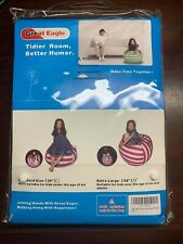 Great Eagle 38 in Extra Large 100% Cotton Canvas Kids Stuffed Beanbag