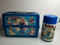 1979 VINTAGE POPEYE PLASTIC DOME LUNCHBOX w/ THERMOS - ALADDIN COLLECTIBLE