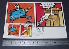 CARTE POSTALE 1er JOUR PHILATELIE 1988 BRETECHER FOREST BD BANDES DESSINEES