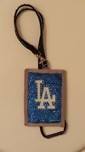 Rico Industries MLB Los Angeles Dodgers Lanyard Beaded Identification Wallet