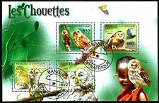 CENTRAL AFRICAN REPUBLIC, OWLS, BLOCK, CANCELLED TO ORDER