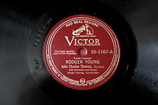 John Charles Thomas: Roger Young + The Army Air Corps, gomma lacca PIASTRA 25 cm 78 U