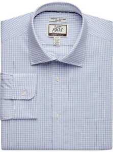 Jos. A. Bank Men's Slim Fit Brrr Comfort Dress Shirt 17.5 - 36 NWT Purple Blue