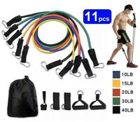 11 Pcs/set Resistance Bands Gym Fitness Workout From Home