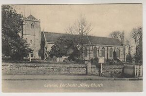 Oxfordshire Tarjeta Postal - Exterior, Dorchester Abbey Iglesia (A208)