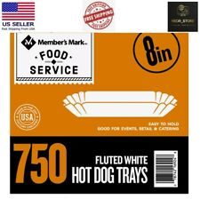 Restaurant Hot Dog Trays 8 750 Ct Catering Free And Fast Shipping