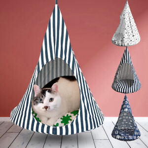 Cat Hammock Bed Cat House Tent Hanging Cushion Comfortable Hanging Swing Bed Mat