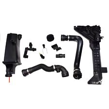 For BMW E46 Set 8Pcs Expansion Tank Mounting Connector Thermostat Hose Sensor