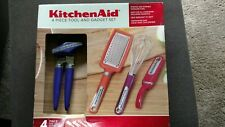 KitchenAid Multi-Color 4-Piece Tool & Gadget Set Grater Whisk Peeler Can Opener