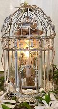 Antique White Shabby Chic Birdcage For Home Decor