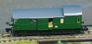 """FLEISCHMANN 8795K   DB 6-wheel Baggage coach    """"BOXED""""    N Gauges (F1169)"""