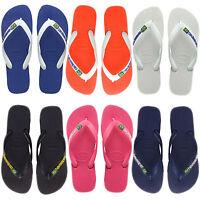 2019 GENUINE Havaianas Logo Flip Flops Brazil beach thongs unisex sandals BNWT