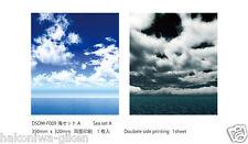 [HAKONIWAGIKEN DM-F009 350x302mm] Diorama Sheet DM Sea set A backwall HG 1sheet