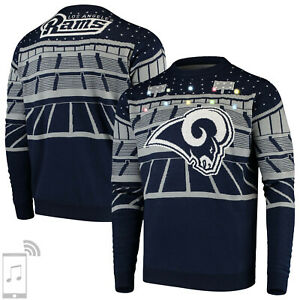 NFL Ugly Sweater Los Angeles L.A. Rams Pullover Christmas Bluetooth Football 18