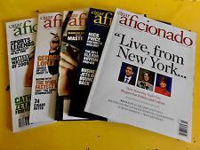 Cigar Aficionado Magazine Lot 5,2009,2010,2011 Zeta-Jones,Lopez, McConaughey,SNL
