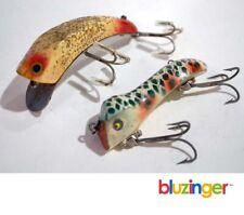 Pflueger Wizard Wiggler + Lucky Strike Vintage Wooden Fishing Lures