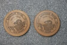 Lincoln Park , New Jersey 1972 50th Anniversary Wooden Token Nickel ~ Lot of 2