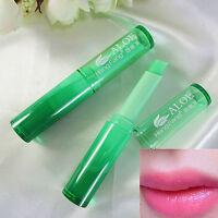 Natural Healthy Moisture Magic Lipstick Temperature Change Color Aloe Lip Balm B