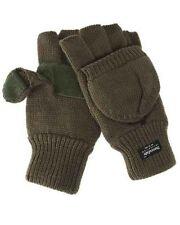 Klapp- Handschuhe Thinsulate,Fingerlinge, oliv    -NEU-