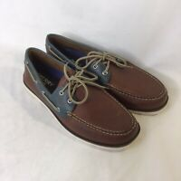 New Sperry Top-Sider Leeward 2-Eye Boat Shoe Dark Tan/Blue, Men's 12 M