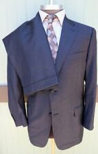 Canali Italy Recent Gray Small Check Two Button Suit Flat Front Cuffed 46R 38W