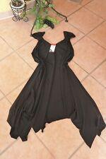 MAGNA ZIPFEL Tunika Kleid 56 58 NEU schwarz Stretch A-Form Längen LAGENLOOK