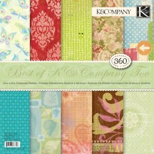 Best of K & Co Too 360 Sheets 120 Designs 12x12 Specialty Paper Pad