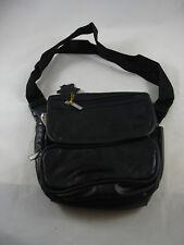 Capezio Black Patchwork Leather Fanny Pack Bum Bag NEW Adjustable Waist Strap
