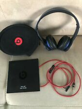 Beats by Dr. Dre Navy Blue Solo HD Wired On Ear Headphones w/ Case/Cord/Manual