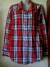 BNWOT**OLD NAVY**SUPERB GENT`S CHECK LONG SLEEVE COTTON SHIRT...SIZE L**