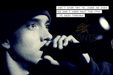 Eminem quote photo print poster - pre signed - The F*** I've been through