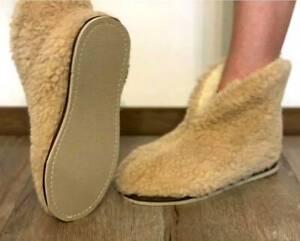 Wool Sherpa Sneakers, Winter Ankle Slippers, Soft Sheepskin shoes