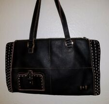 Viavegan BLACK / pink Leather Vegan Handbag Gently used