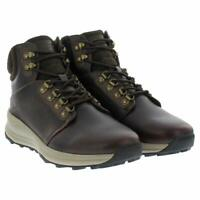 Khombu Men's Leather Memory Foam Lightweight Hiker Boot - Brown or Grey