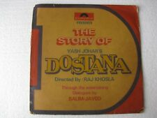 The Story of Dostana LAXMIKANT PYARELAL 2  LP Record Bollywood India-1629