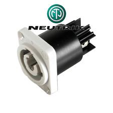 Fiche POWERCON Embase 3 Points Gris Sortie Secteur 220 V 20 Amp NEUTRIK NAC3MPB