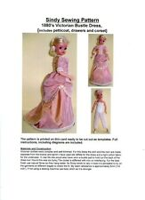 Sindy Sewing Pattern for Victorian Bustle Dress and Underwear [1880's]