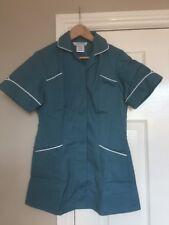 BNWT Alexandra SD343 Women/'s Nurse Carer Tunic Beige /& White//Brown Trim Size 12