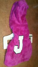Juicy Couture Pets Hooded Pink Furry Letter J Hoodie w/EARS Jacket Coat S/M Dog