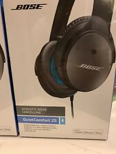 Bose QuietComfort 25 Acoustic Noise Cancelling Headphones Black For iPhone, Ipad