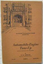 Automobile Engine Tune Up Part 2 C R Strouse 1945 Paperback