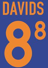 Holland Seedorf local 2000 camisa fútbol un fútbol de impresión de calor Número Letra